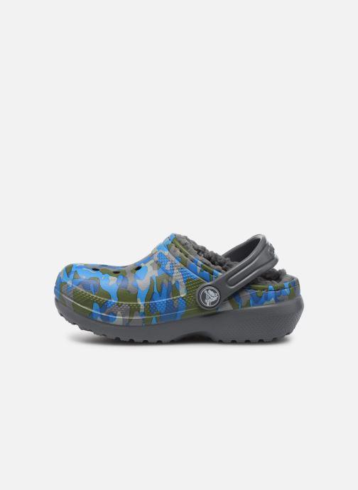 Sandales et nu-pieds Crocs Classic Printed Lined Clog K Gris vue face