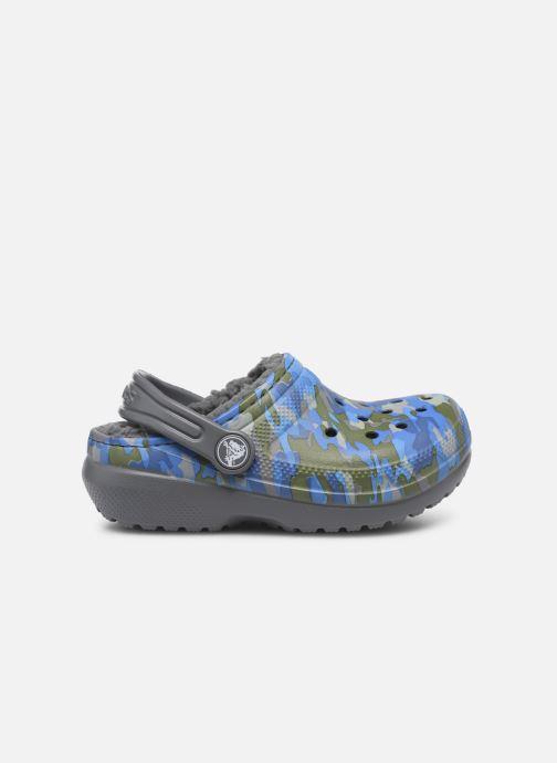 Sandales et nu-pieds Crocs Classic Printed Lined Clog K Gris vue derrière