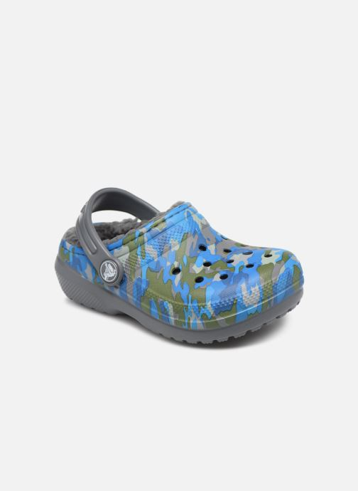 Sandales et nu-pieds Crocs Classic Printed Lined Clog K Gris vue détail/paire