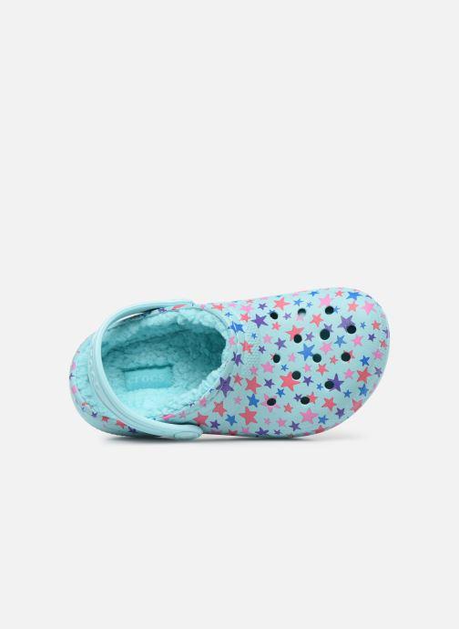 Sandales et nu-pieds Crocs Classic Printed Lined Clog K Bleu vue gauche