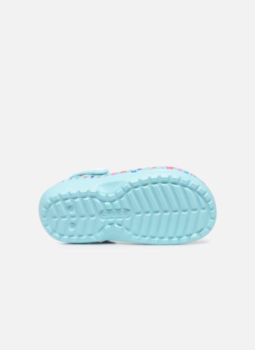 Sandales et nu-pieds Crocs Classic Printed Lined Clog K Bleu vue haut
