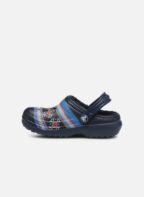 Sandali e scarpe aperte Crocs Classic Printed Lined Clog K Azzurro immagine frontale