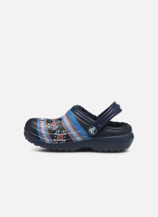Sandalen Crocs Classic Printed Lined Clog K Blauw voorkant