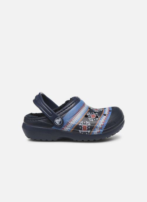 Sandalen Crocs Classic Printed Lined Clog K Blauw achterkant