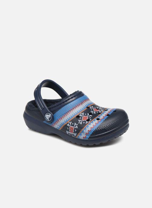 Sandales et nu-pieds Crocs Classic Printed Lined Clog K Bleu vue détail/paire