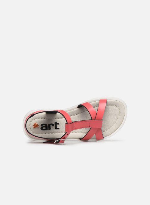 Sandales et nu-pieds Art Merida A332 Rose vue gauche