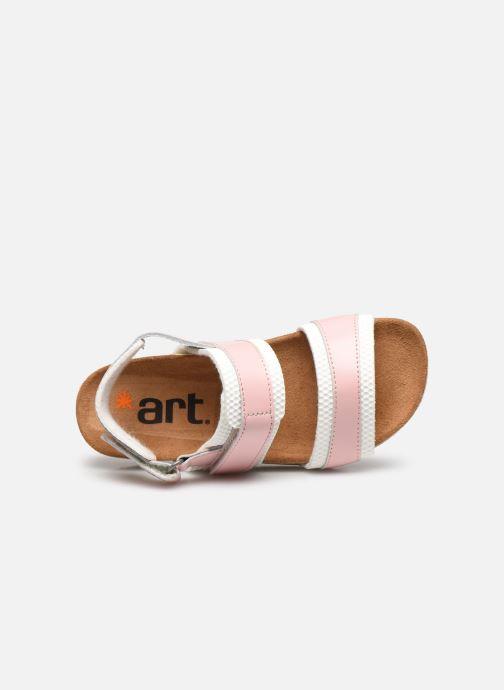 Sandales et nu-pieds Art I play A443 Rose vue gauche