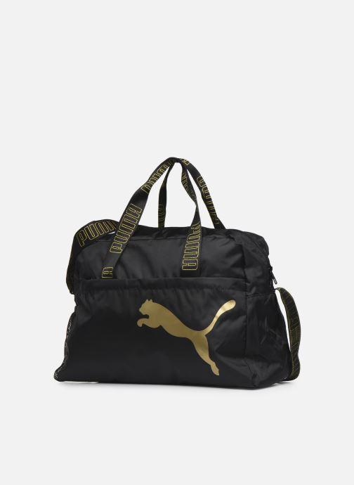 Sacs à main Puma At Ess Grip Bag Noir vue portées chaussures