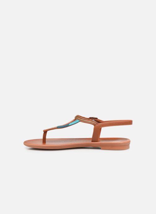 Sandales et nu-pieds Grendha Grendha Cacau Rustic Sandal Fem Marron vue face