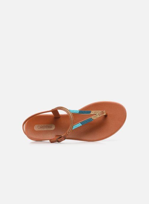 Sandales et nu-pieds Grendha Grendha Cacau Rustic Sandal Fem Marron vue gauche