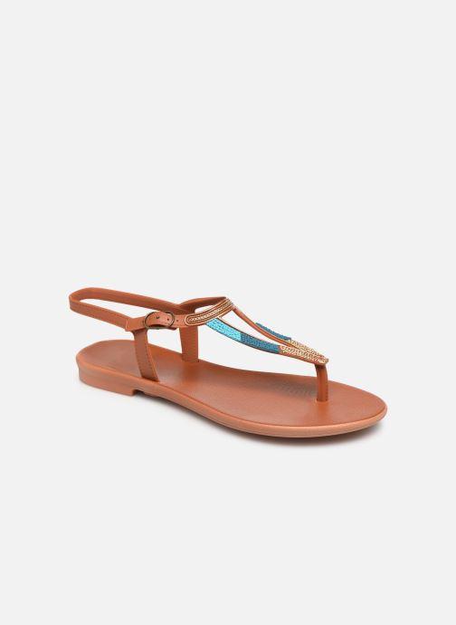 Sandales et nu-pieds Grendha Grendha Cacau Rustic Sandal Fem Marron vue détail/paire