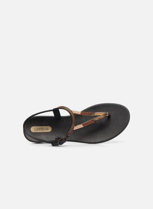 Sandalias Grendha Grendha Cacau Rustic Sandal Fem Negro vista lateral izquierda