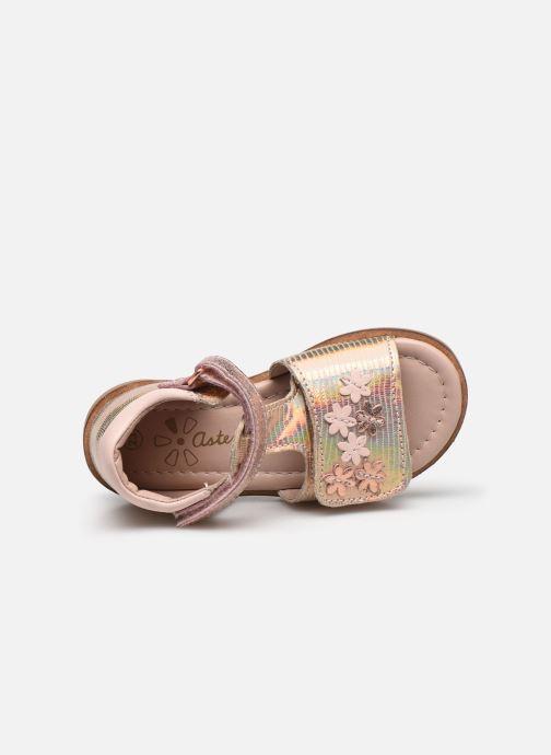 Sandales et nu-pieds Aster Norald Rose vue gauche