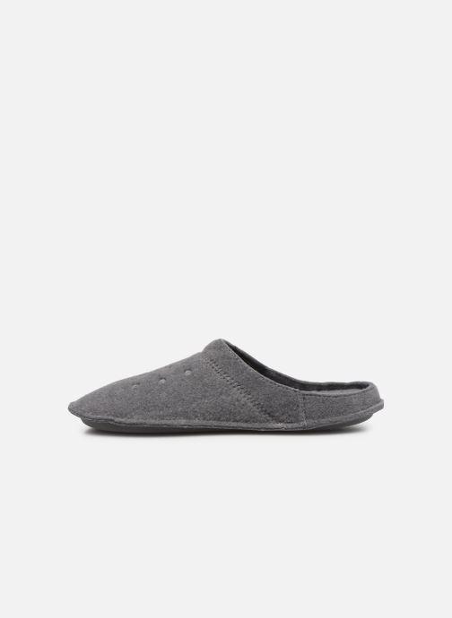 Zuecos Crocs Classic Slipper W Gris vista de frente