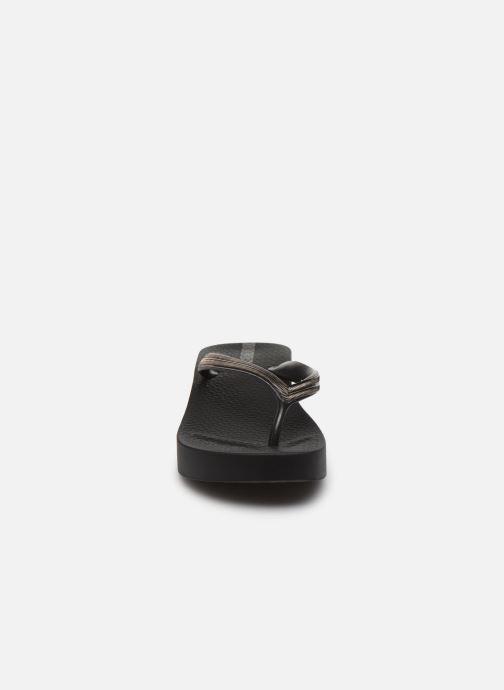 Tongs Ipanema Ipanema Mesh V Plat Fem Noir vue portées chaussures