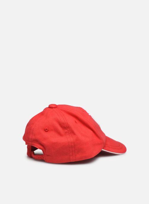 Cappellino Timberland T01285 kids Rosso modello indossato