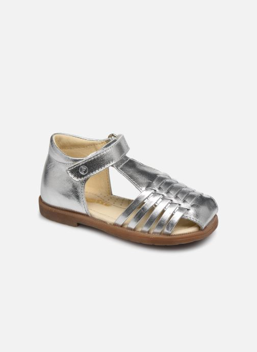 Sandals Naturino Falcotto Flysch Silver detailed view/ Pair view