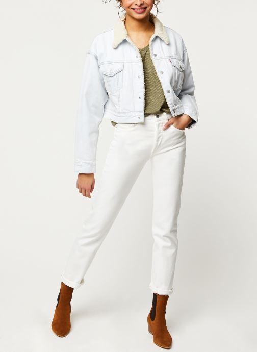 Vêtements Pieces T-Shirt Pcbillo Tee Lurex Stripes Noos Vert vue bas / vue portée sac