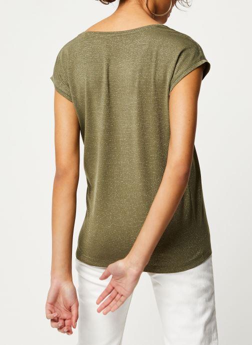 Vêtements Pieces T-Shirt Pcbillo Tee Lurex Stripes Noos Vert vue portées chaussures
