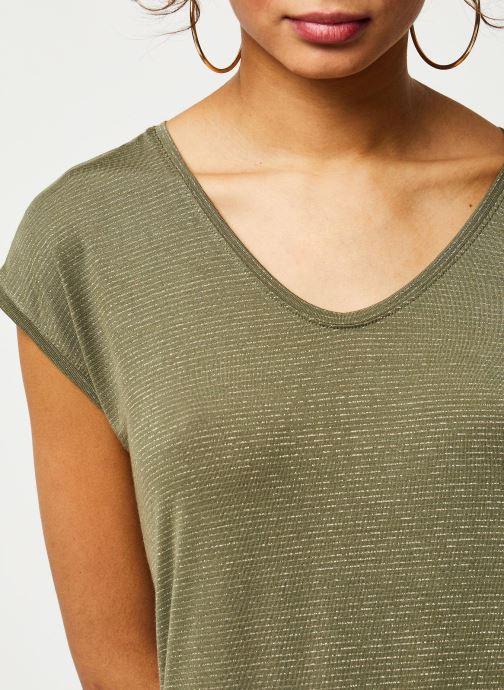 Vêtements Pieces T-Shirt Pcbillo Tee Lurex Stripes Noos Vert vue face