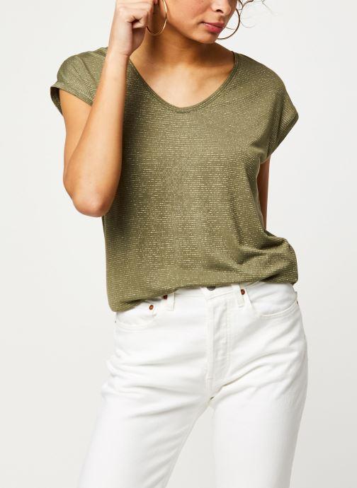 Vêtements Pieces T-Shirt Pcbillo Tee Lurex Stripes Noos Vert vue détail/paire