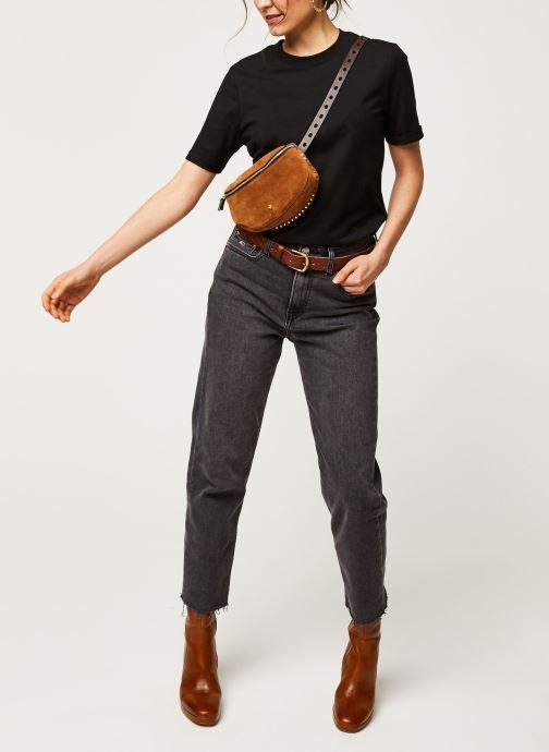 Vêtements Pieces T-Shirt Pcria Ss Fold Up Solid Tee Noos Bc Noir vue bas / vue portée sac