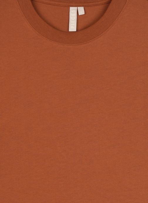 Vêtements Pieces T-Shirt Pcria Ss Fold Up Solid Tee Noos Bc Marron vue face