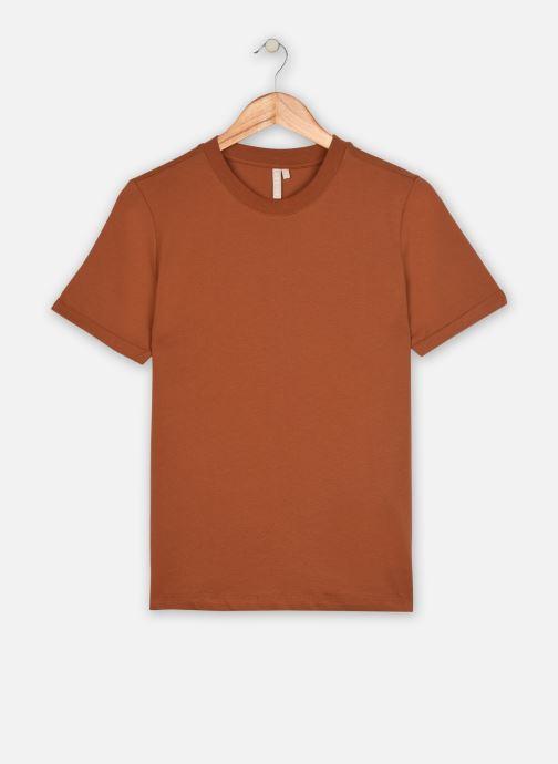 Vêtements Pieces T-Shirt Pcria Ss Fold Up Solid Tee Noos Bc Marron vue détail/paire