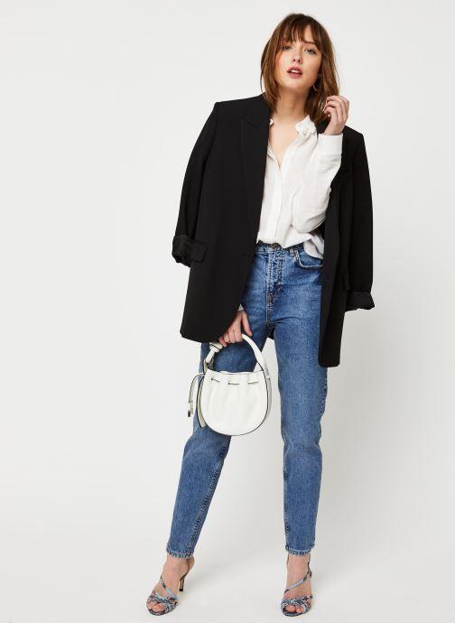 Vêtements Pieces Jeans Pcleah Mom Hw Ank Mb213-Ba/Noos Bc Bleu vue bas / vue portée sac