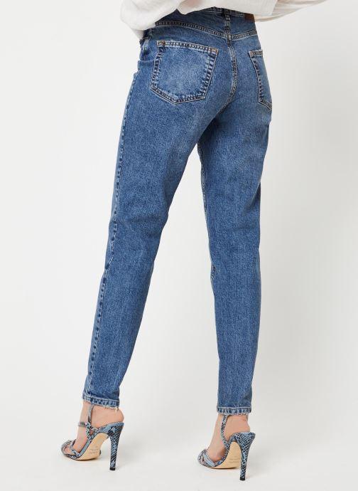 Vêtements Pieces Jeans Pcleah Mom Hw Ank Mb213-Ba/Noos Bc Bleu vue portées chaussures