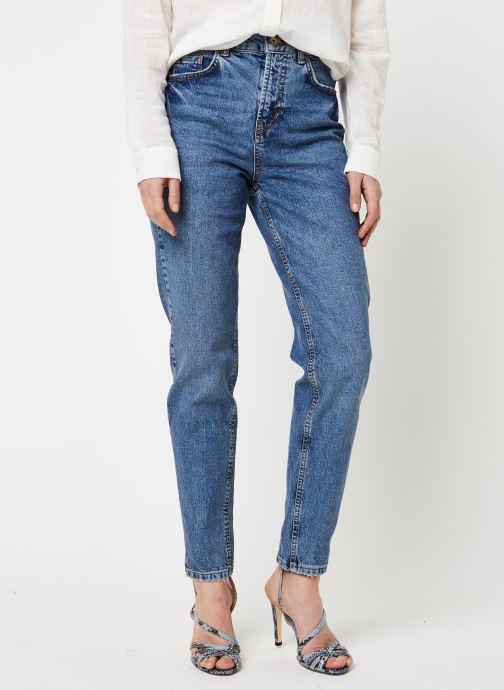 Vêtements Pieces Jeans Pcleah Mom Hw Ank Mb213-Ba/Noos Bc Bleu vue détail/paire