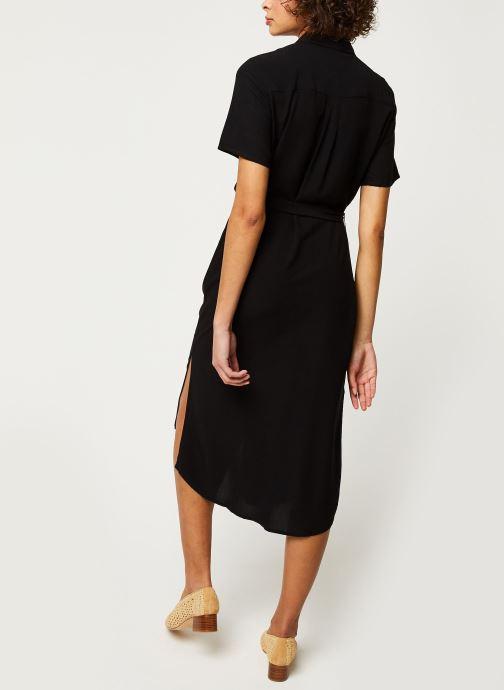 Vêtements Pieces Dresses Pccecilie Ss Long Dress Noos Bc Noir vue portées chaussures