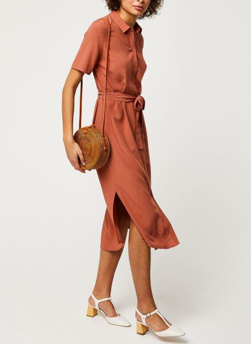 Vêtements Pieces Dresses Pccecilie Ss Long Dress Noos Bc Marron vue bas / vue portée sac