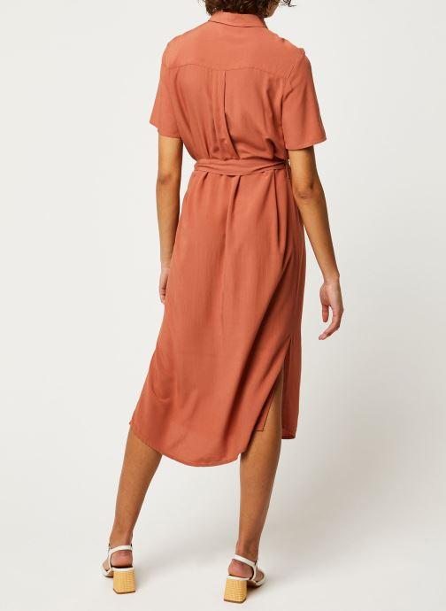Vêtements Pieces Dresses Pccecilie Ss Long Dress Noos Bc Marron vue portées chaussures