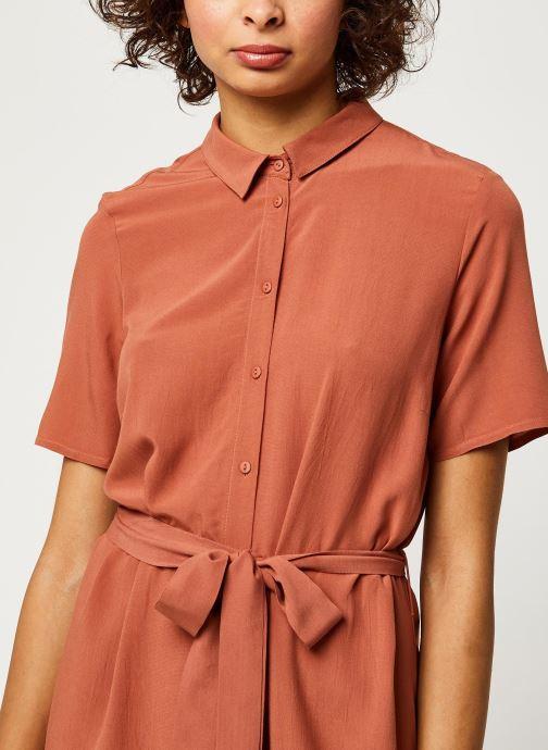 Vêtements Pieces Dresses Pccecilie Ss Long Dress Noos Bc Marron vue face