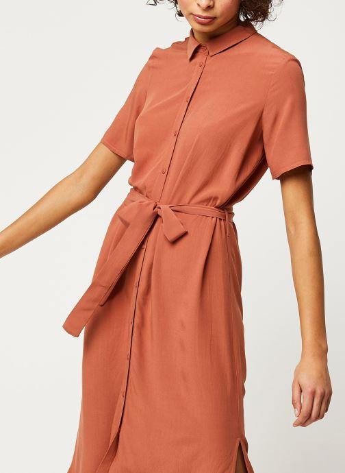 Vêtements Pieces Dresses Pccecilie Ss Long Dress Noos Bc Marron vue droite