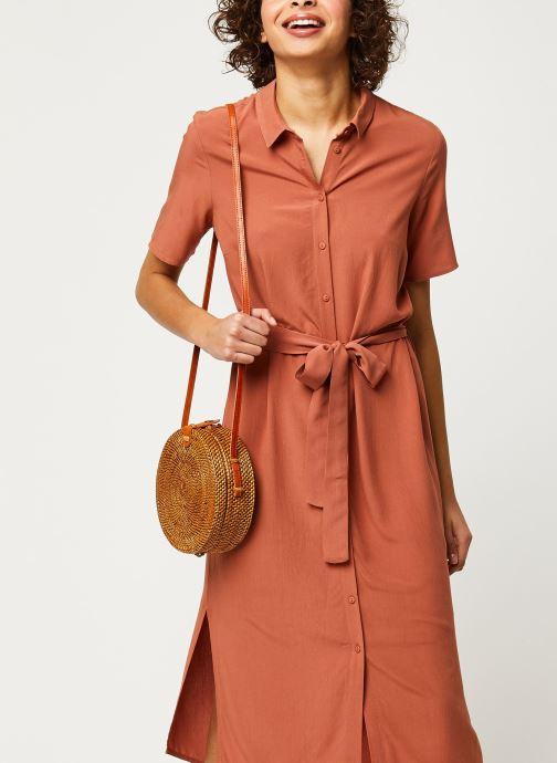Vêtements Pieces Dresses Pccecilie Ss Long Dress Noos Bc Marron vue détail/paire
