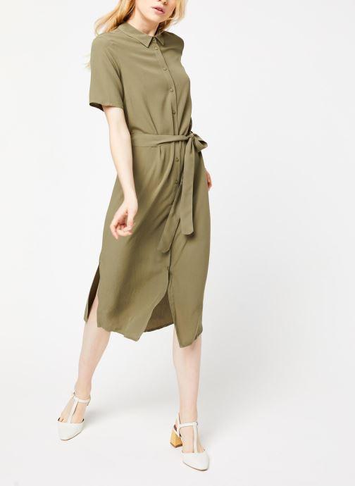 Vêtements Pieces Dresses Pccecilie Ss Long Dress Noos Bc Vert vue bas / vue portée sac