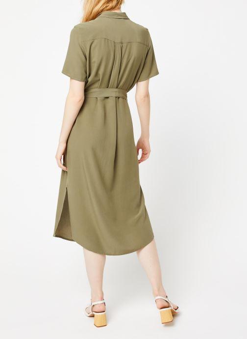 Vêtements Pieces Dresses Pccecilie Ss Long Dress Noos Bc Vert vue portées chaussures