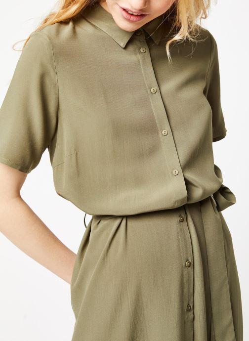 Vêtements Pieces Dresses Pccecilie Ss Long Dress Noos Bc Vert vue face
