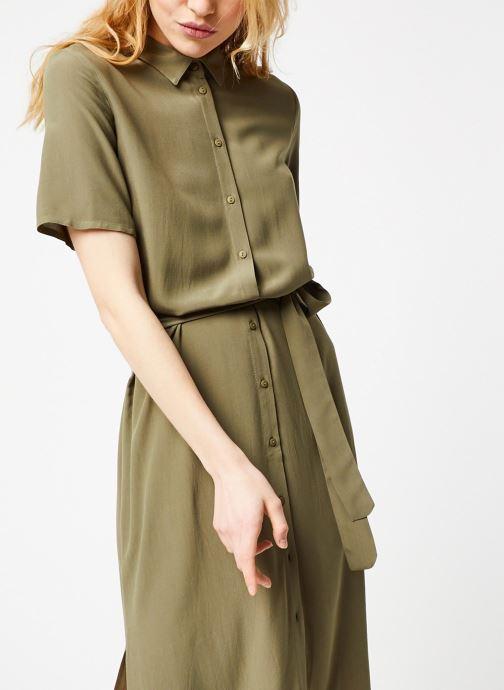 Vêtements Pieces Dresses Pccecilie Ss Long Dress Noos Bc Vert vue droite