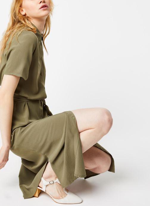 Vêtements Pieces Dresses Pccecilie Ss Long Dress Noos Bc Vert vue détail/paire