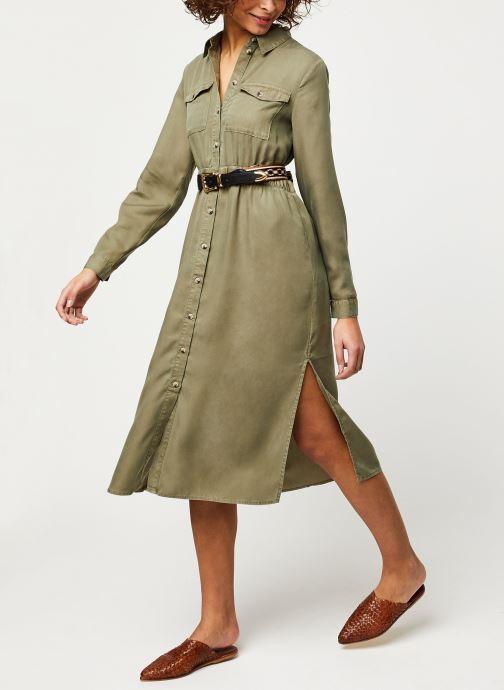 Vêtements Pieces Dresses Pcnola Ls Midi Lyocell Shirt Dress-Bi Bc Vert vue bas / vue portée sac