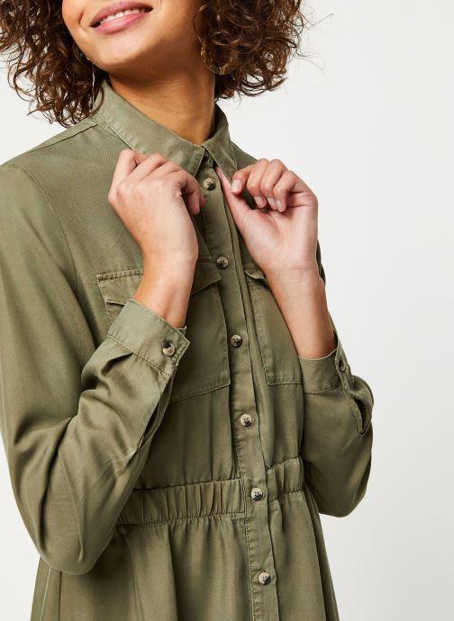 Vêtements Pieces Dresses Pcnola Ls Midi Lyocell Shirt Dress-Bi Bc Vert vue face