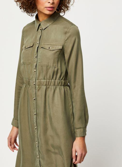 Vêtements Pieces Dresses Pcnola Ls Midi Lyocell Shirt Dress-Bi Bc Vert vue droite