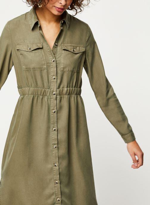 Vêtements Pieces Dresses Pcnola Ls Midi Lyocell Shirt Dress-Bi Bc Vert vue détail/paire