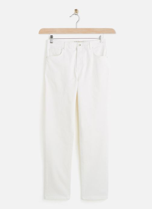 Vêtements Accessoires Jeans Pcleah Mom Hw Ank White-Ba/Cp