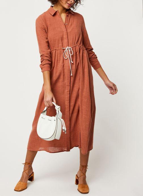 Vêtements Pieces Dresses Pcnamali Ls Dress Kac Marron vue bas / vue portée sac