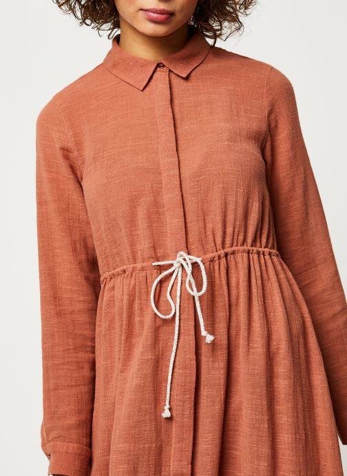 Vêtements Pieces Dresses Pcnamali Ls Dress Kac Marron vue face