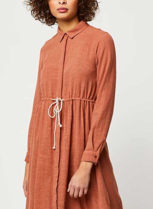 Vêtements Pieces Dresses Pcnamali Ls Dress Kac Marron vue droite